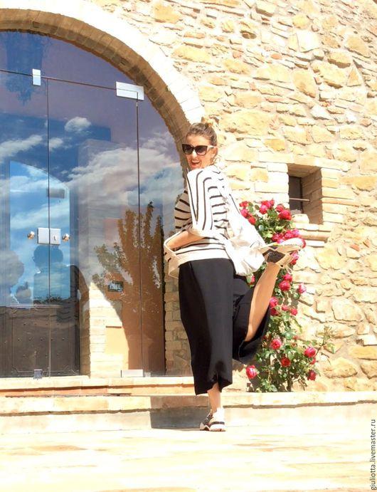 Одежда. Ярмарка Мастеров - ручная работа. Купить Италия .стильные  широкие штаны-юбка . Тренд сезона!. Handmade. Комбинированный, полиэстер