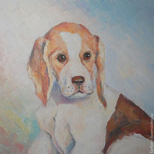 Животные ручной работы. Ярмарка Мастеров - ручная работа. Купить Картина. Портрет щенка Тима.. Handmade. Рыжий, щенок