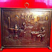 Винтаж ручной работы. Ярмарка Мастеров - ручная работа Старинный каминный экран. Handmade.