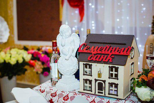 Свадебные аксессуары ручной работы. Ярмарка Мастеров - ручная работа. Купить Свадебный банк. Handmade. Комбинированный, свадебная казна