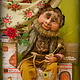 Сказочные персонажи ручной работы. Ярмарка Мастеров - ручная работа. Купить Домовой Хранитель ключей. Handmade. Коричневый, интерьерная кукла