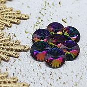 Материалы для творчества handmade. Livemaster - original item Glass rhinestones 12 mm Rivoli rainbow. Handmade.