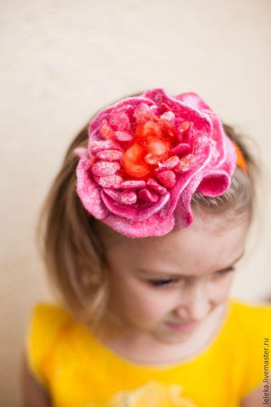 """Диадемы, обручи ручной работы. Ярмарка Мастеров - ручная работа. Купить ободок """"розовый вечер!. Handmade. Розовый, ободок для девочки"""