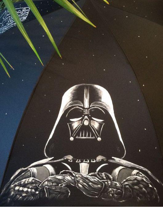 Зонты ручной работы. Ярмарка Мастеров - ручная работа. Купить Зонт с росписью на тему Звездные войны. Handmade. Звездные войны