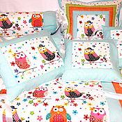 Для дома и интерьера ручной работы. Ярмарка Мастеров - ручная работа Бортики в кроватку  Комплект в кроватку. Handmade.