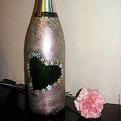 """Свадебный салон ручной работы. Ярмарка Мастеров - ручная работа свадебное шампанское """"Сердце"""". Handmade."""