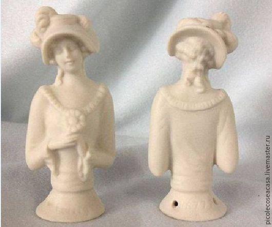 Миниатюрные модели ручной работы. Ярмарка Мастеров - ручная работа. Купить Half Doll Porcelain Bisque 3. Handmade. Белый