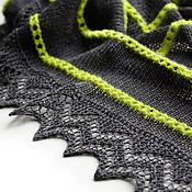 Аксессуары ручной работы. Ярмарка Мастеров - ручная работа Темно-серый квадратный платок. Handmade.