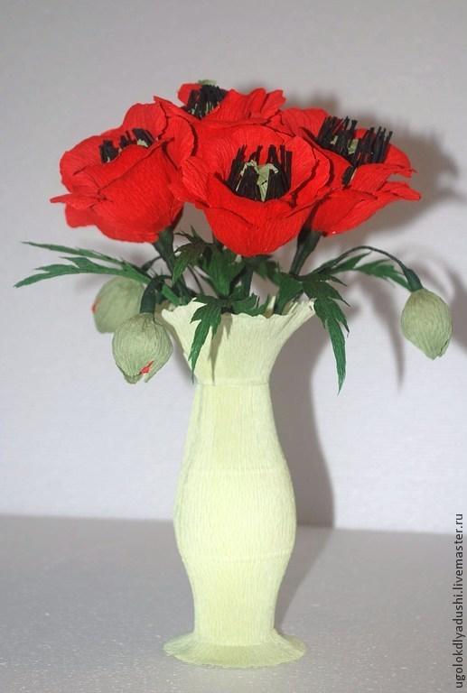 """Букеты ручной работы. Ярмарка Мастеров - ручная работа. Купить Букет из конфет """"Маки в кувшине"""". Handmade. Подарок девушке, сувенир"""