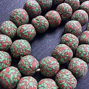 Бусины ручной работы. Ярмарка Мастеров - ручная работа АРБУЗ Африканские бусины Кробо. Handmade.