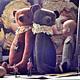 Мишки Тедди ручной работы. Брэд. Юлия Валеева (Julia Valeeva). Ярмарка Мастеров. Шебби, бархатный, бежевый, лён