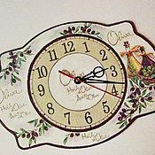 Для дома и интерьера ручной работы. Ярмарка Мастеров - ручная работа Часы фигурные Оливочки. Handmade.