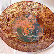 "Посуда ручной работы. Ярмарка Мастеров - ручная работа декоративная тарелка ""Спящая красавица"". Handmade."