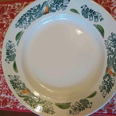 Для дома и интерьера ручной работы. Ярмарка Мастеров - ручная работа Тарелка для вторых блюд. Handmade.