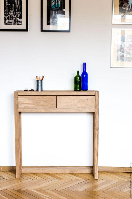 Мебель ручной работы. Ярмарка Мастеров - ручная работа. Купить Консольный столик с ящиками QUATTRO. Handmade. Мебель, мебель из дерева