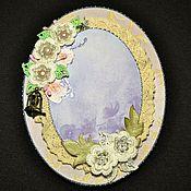 Сувениры и подарки ручной работы. Ярмарка Мастеров - ручная работа Фоторамка в стиле шебби шик  Свадебная. Handmade.