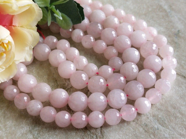 Розовый кварц бусины огранка 8 и 10 мм, Бусины, Краснодар,  Фото №1