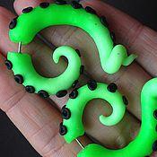Украшения handmade. Livemaster - original item Faux under stretching,luristanica,plug,octopus, spiral,. Handmade.
