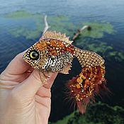 handmade. Livemaster - original item The goldfish brooch. Handmade.