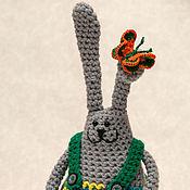 Куклы и игрушки ручной работы. Ярмарка Мастеров - ручная работа Интерьерная игрушка Заяц Боря-романтик. Handmade.