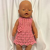 """Куклы и игрушки ручной работы. Ярмарка Мастеров - ручная работа Платье для Baby Born """"Ажурное"""". Handmade."""