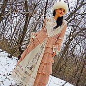 Одежда ручной работы. Ярмарка Мастеров - ручная работа Зимнее БОХО макси платье. Handmade.