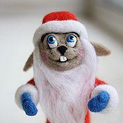Подарки к праздникам ручной работы. Ярмарка Мастеров - ручная работа Новогодний заяц. Handmade.
