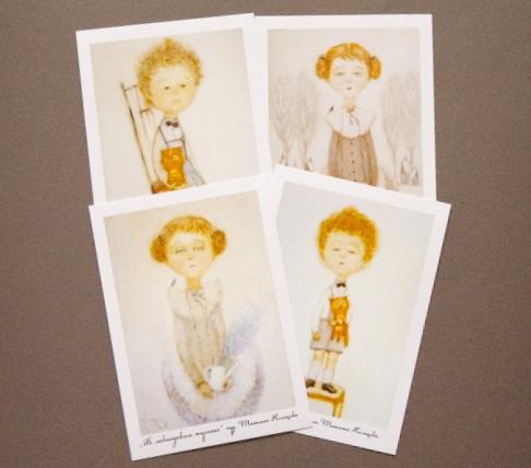 """Открытки на все случаи жизни ручной работы. Ярмарка Мастеров - ручная работа. Купить Набор открыток """"Сто дней после детства"""". Handmade."""
