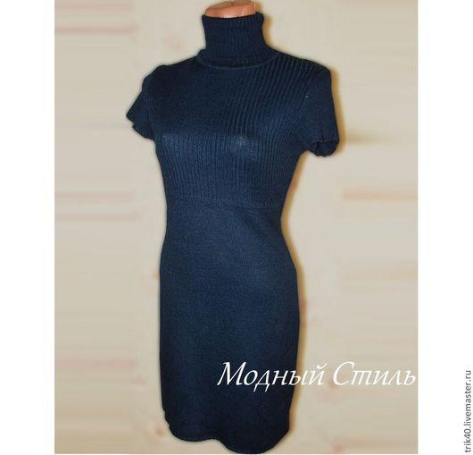 """Платья ручной работы. Ярмарка Мастеров - ручная работа. Купить Платье """"Валерия"""". Handmade. Синий, короткое платье, Синее платье"""