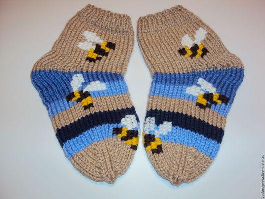 Носки, гольфы, гетры ручной работы. Ярмарка Мастеров - ручная работа. Купить Носочки для самых маленьких Пчелки. Handmade. Разноцветный
