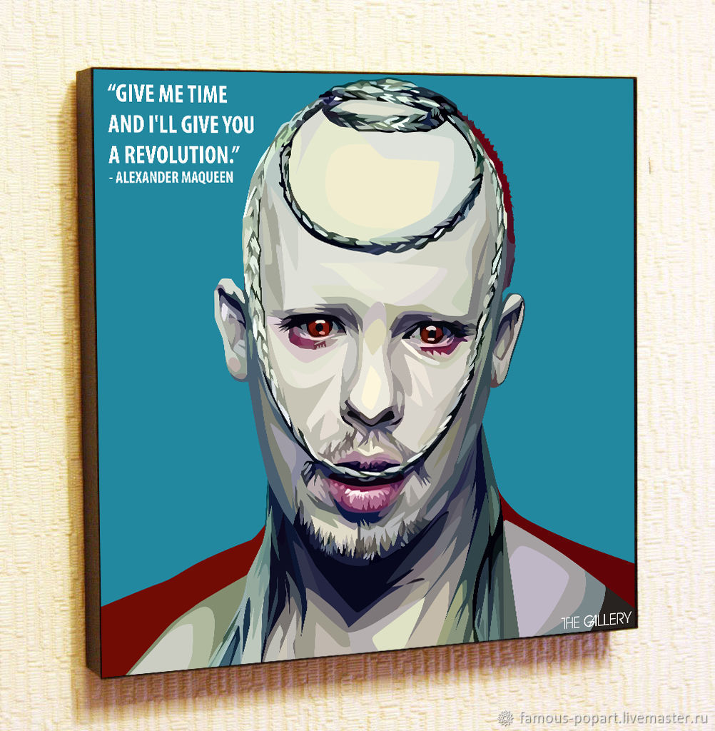 Alexander McQueen Poster Painting in Pop Art style, Fine art photographs, Moscow,  Фото №1