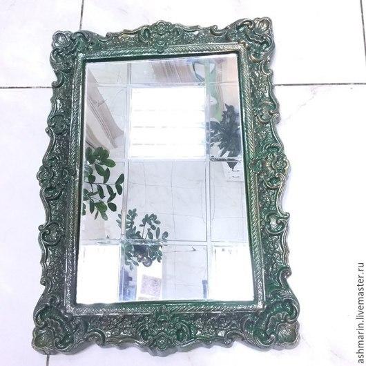 Зеркала ручной работы. Ярмарка Мастеров - ручная работа. Купить Зеркало Узорчатое Эмаль, акрил.. Handmade. Разноцветный, лак