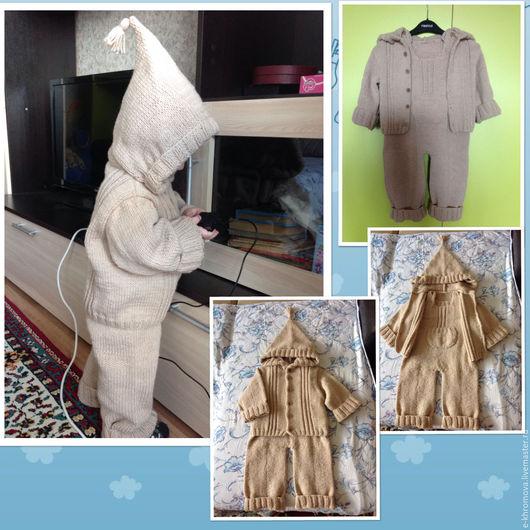 Одежда унисекс ручной работы. Ярмарка Мастеров - ручная работа. Купить Детский костюм Фильдар (кофточка с капюшоном и комбинезон). Handmade.