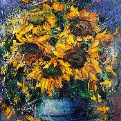 Картины и панно handmade. Livemaster - original item Flowers painting