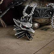 Украшения handmade. Livemaster - original item The Medallion Of The Witcher. Pendant wolf. The Witcher Nickel silver brass. Handmade.