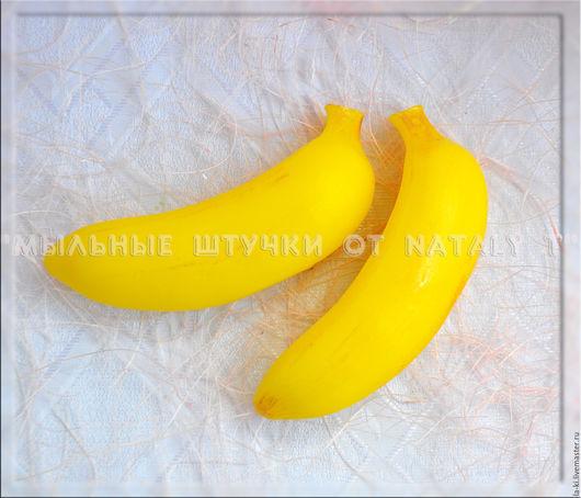 """Мыло ручной работы. Ярмарка Мастеров - ручная работа. Купить Мыло """"Банан малый 3D"""". Handmade. Желтый, баначик, бананы"""