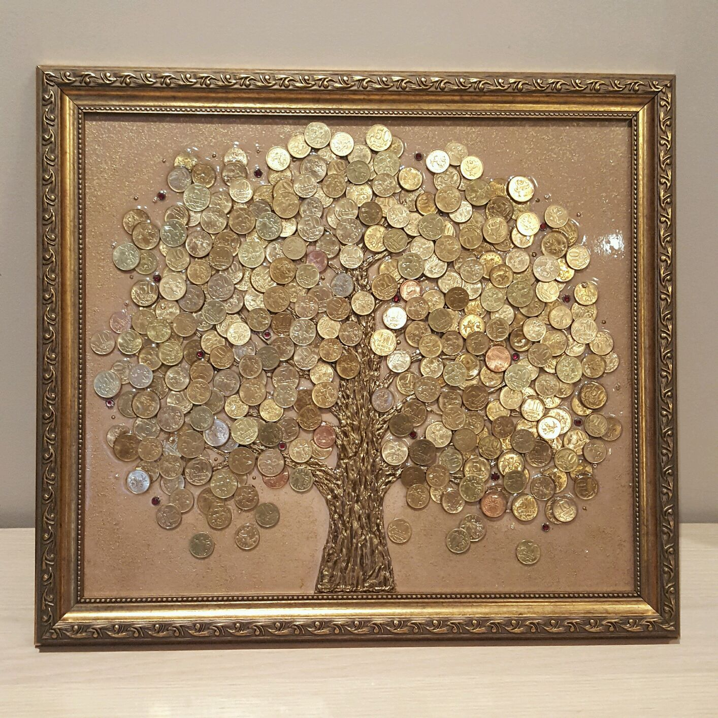 Как сделать панно денежного дерева 57