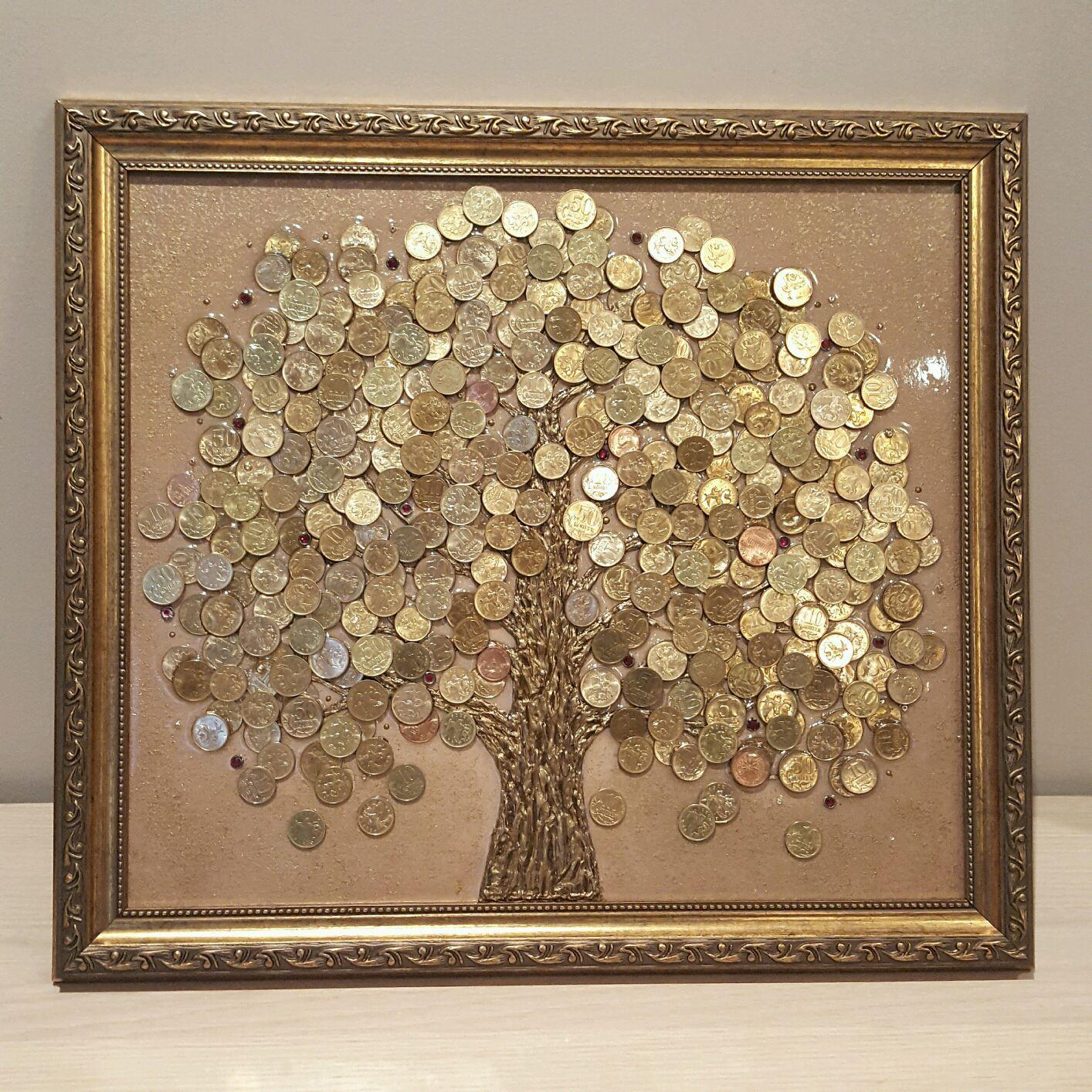 Картина денежное дерево из монет своими руками мастер 48