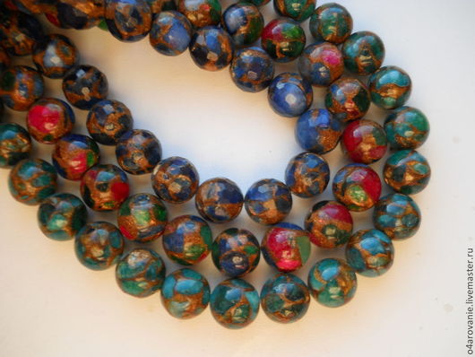 Для украшений ручной работы. Ярмарка Мастеров - ручная работа. Купить Бусина - мозаика из варисцита. Handmade. Разноцветный, бусины для украшений
