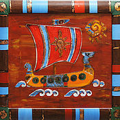 Картины и панно handmade. Livemaster - original item The ship of the Sun, oil painting. Handmade.
