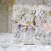 """Свадебный салон ручной работы. Ярмарка Мастеров - ручная работа Свадебная открытка """"Птица счастья"""". Handmade."""