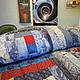 Текстиль, ковры ручной работы. Ярмарка Мастеров - ручная работа. Купить Лоскутное покрывало Звезды радости. Handmade. Пестрый, звезды