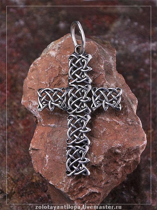 """Кулоны, подвески ручной работы. Ярмарка Мастеров - ручная работа. Купить Крест """"Кельтский мотив"""" из серебра 925 пробы. Handmade."""