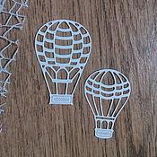 Материалы для творчества handmade. Livemaster - original item !Cutting for scrapbooking - Air BALLOON, TRAVEL, TRIP. Handmade.