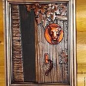 Картины и панно ручной работы. Ярмарка Мастеров - ручная работа Резное дерево_Открытая дверь. Handmade.