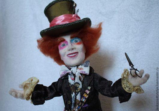 Коллекционные куклы ручной работы. Ярмарка Мастеров - ручная работа. Купить Безумный шляпник. Handmade. Разноцветный, шерсть 100%
