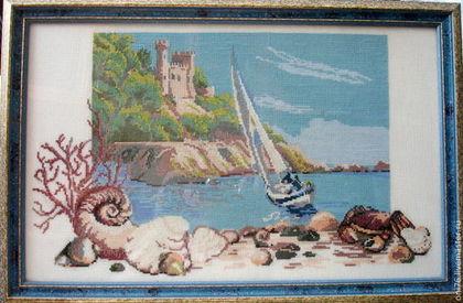 """Пейзаж ручной работы. Ярмарка Мастеров - ручная работа Картина """"Парусник"""". Handmade."""