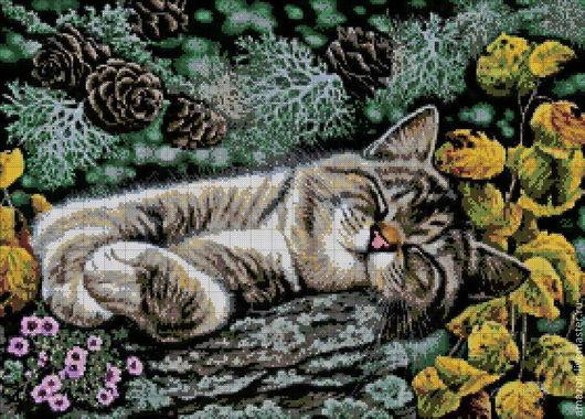 """Вышивка ручной работы. Ярмарка Мастеров - ручная работа. Купить Набор вышивания бисером """"Сладких снов! """"по картине худ. И. Гармашовой. Handmade."""