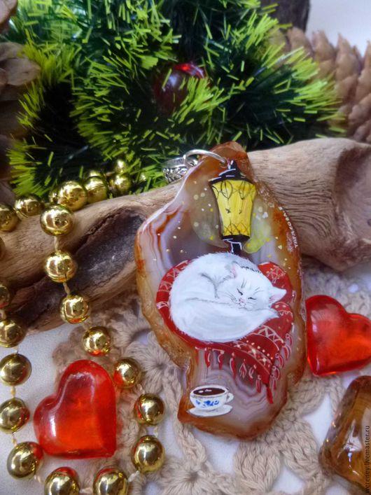 """Кулоны, подвески ручной работы. Ярмарка Мастеров - ручная работа. Купить Кулон """"Из жизни Кофекота..."""". Handmade. Кот"""
