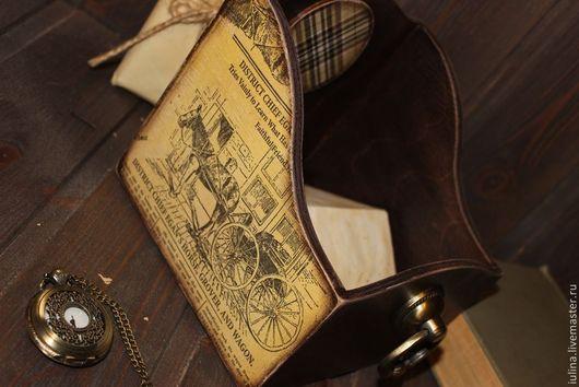 """Корзины, коробы ручной работы. Ярмарка Мастеров - ручная работа. Купить Короб """"Horse, grover and wagon"""". Handmade. Подарок"""